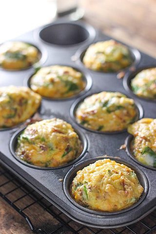 Spinach and egg muffin. Make kid's immune systems stronger, make these nutrients-rich, immunity-boosting snacks!