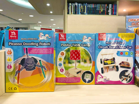 Mochy Kid, best STEM activity play kit/teaching materials provider, are now available in Bookazine stores and HKTVmall.com