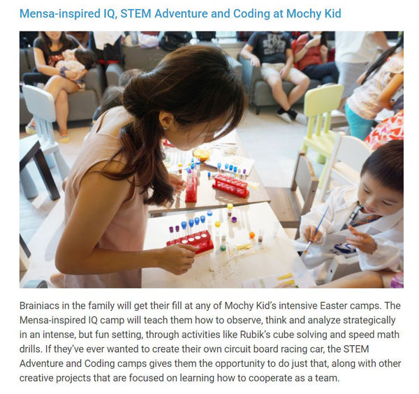 the hk hub, hk top best easter camp 2018, mochy kid, science, stem