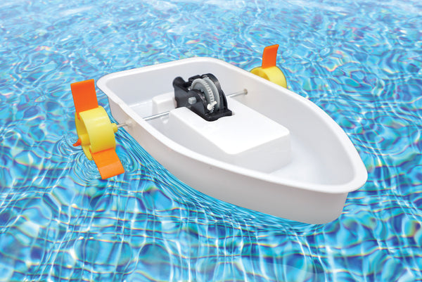 stem activity play kit, Self-propelled Paddle Boat, new version, upgraded, hong kong best toy brand, young children, kids, beginner, kindergarten