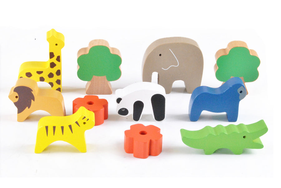 Wooden Animal Balancing Seesaw - stacking, forest, cute, balance