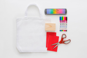 Paint Your Canvas Tote Bag