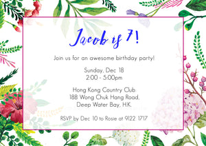 Invitation Card - Birthday (floral flare) - Moinàrchy MIY (HK)
