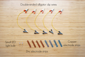 Fruit Battery Circuit (copper alligator clips!) - Moinàrchy MIY (HK)