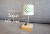 Wood Bedside Table Lamp (make custom light shade too!)