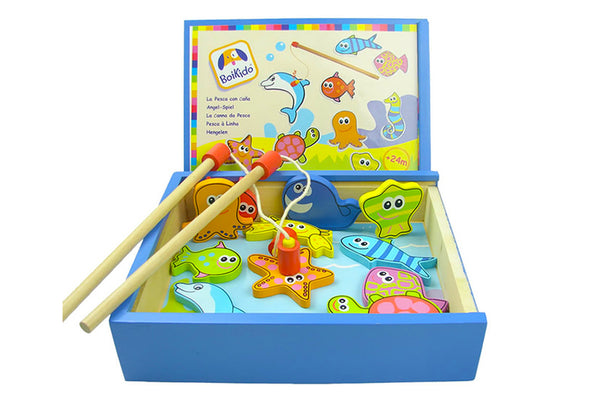 Wooden Magnetic French Fishing