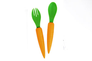 Carrot Spoon and Fork Set (BPA free) 🥕 - Moinàrchy MIY (HK)