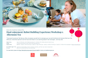 (Expired) Mochy x Pacific Bar @Conrad hotel: Robot Building Experience Workshop & Afternoon Tea - Moinàrchy MIY (HK)