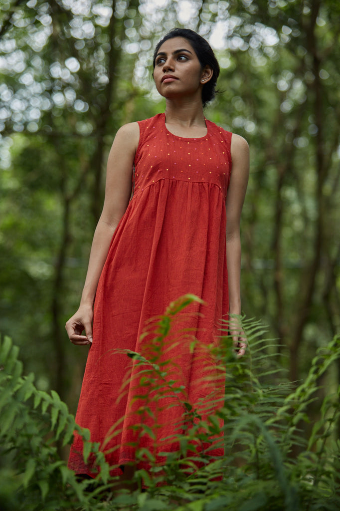 Firefly Crepe Dress