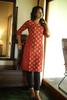 The Gudiya Kurta ~ Brick Red
