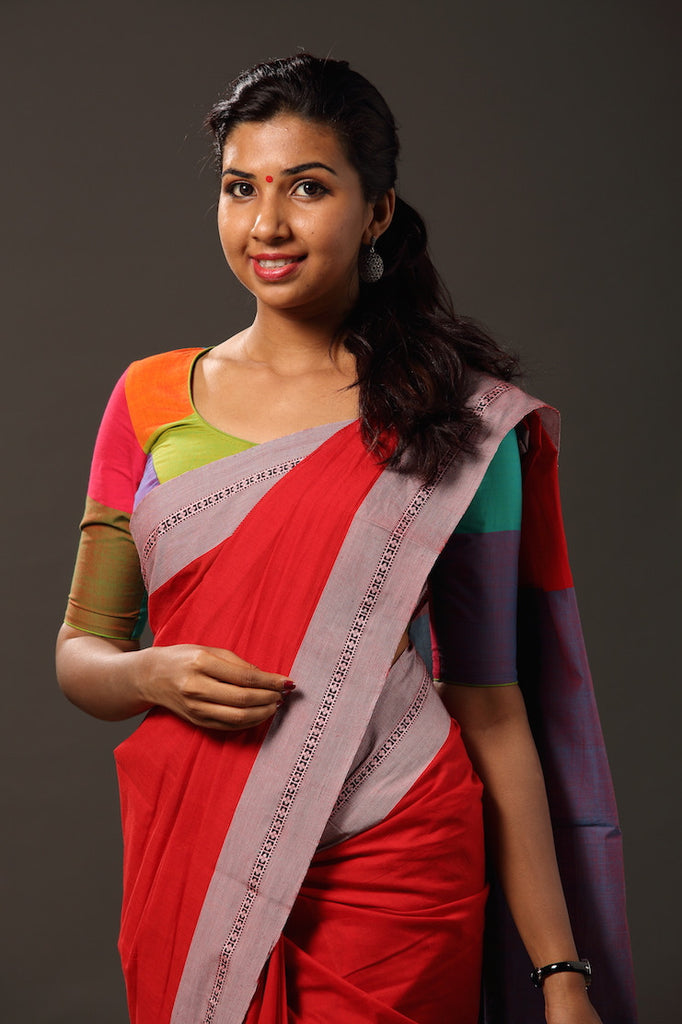 Mazhavillu` Kaithari Blouse - FLOOD SURVIVOR
