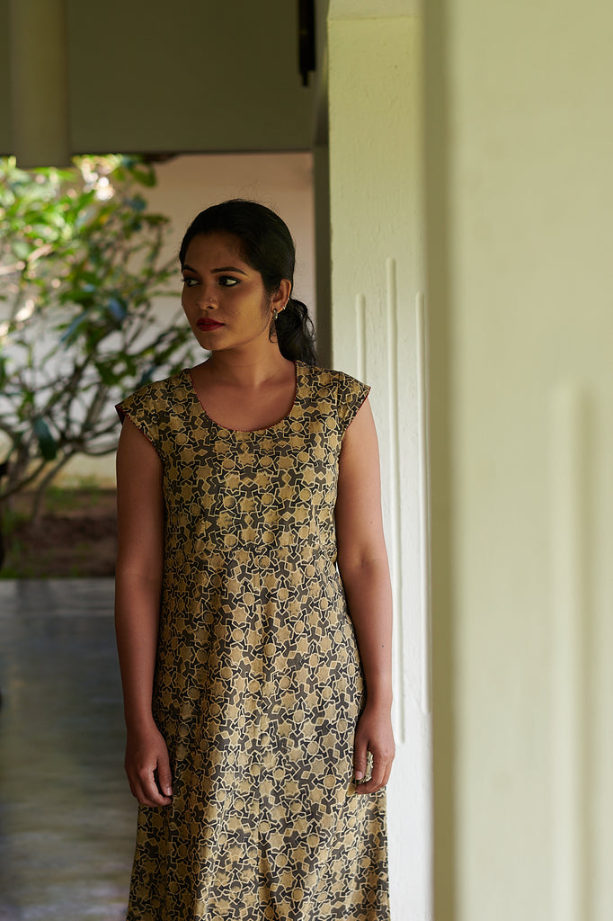 Lily Blockprint Dress