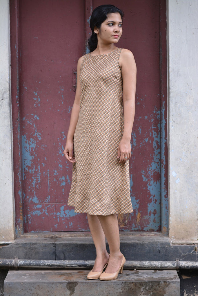 Mahe Linen Dress ~ Golden Wheat