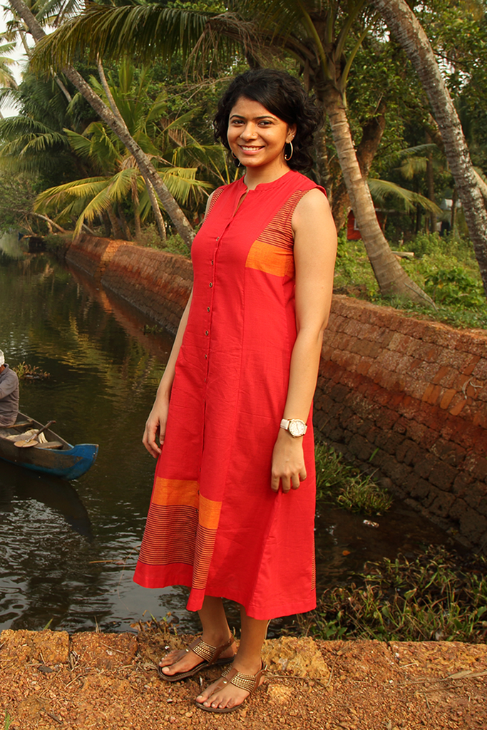 Manjadikuru Dress