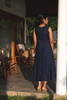 Midnight Blue Linen Dress