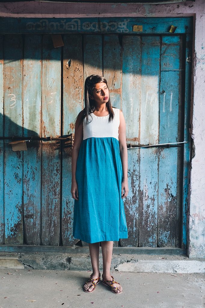 Blue Hour Crepe Dress