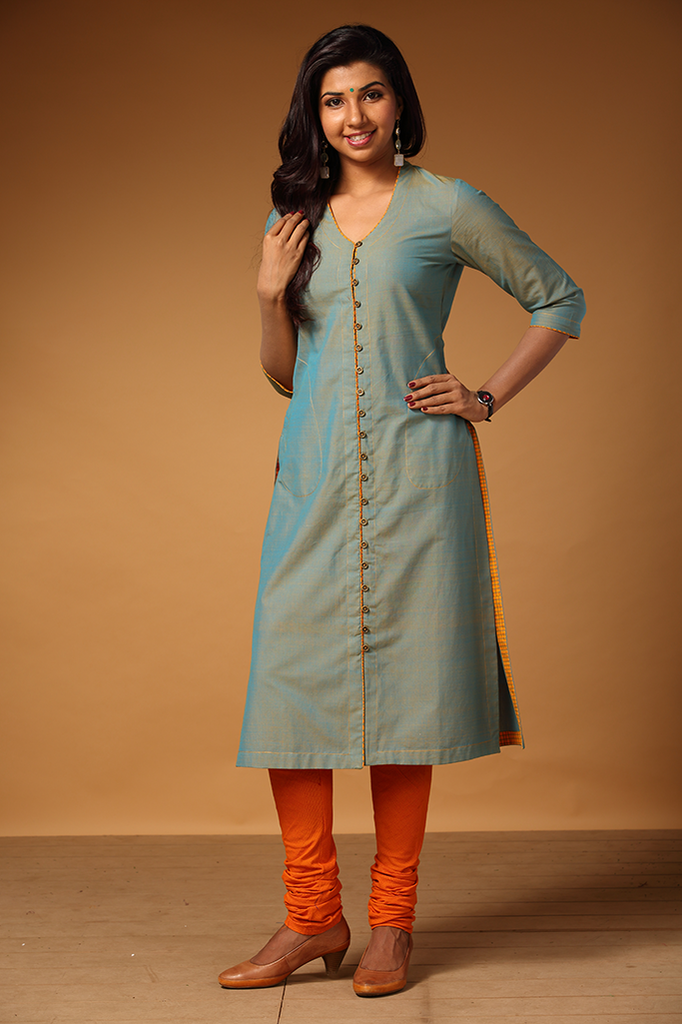 Vennila` Button-down Kurta
