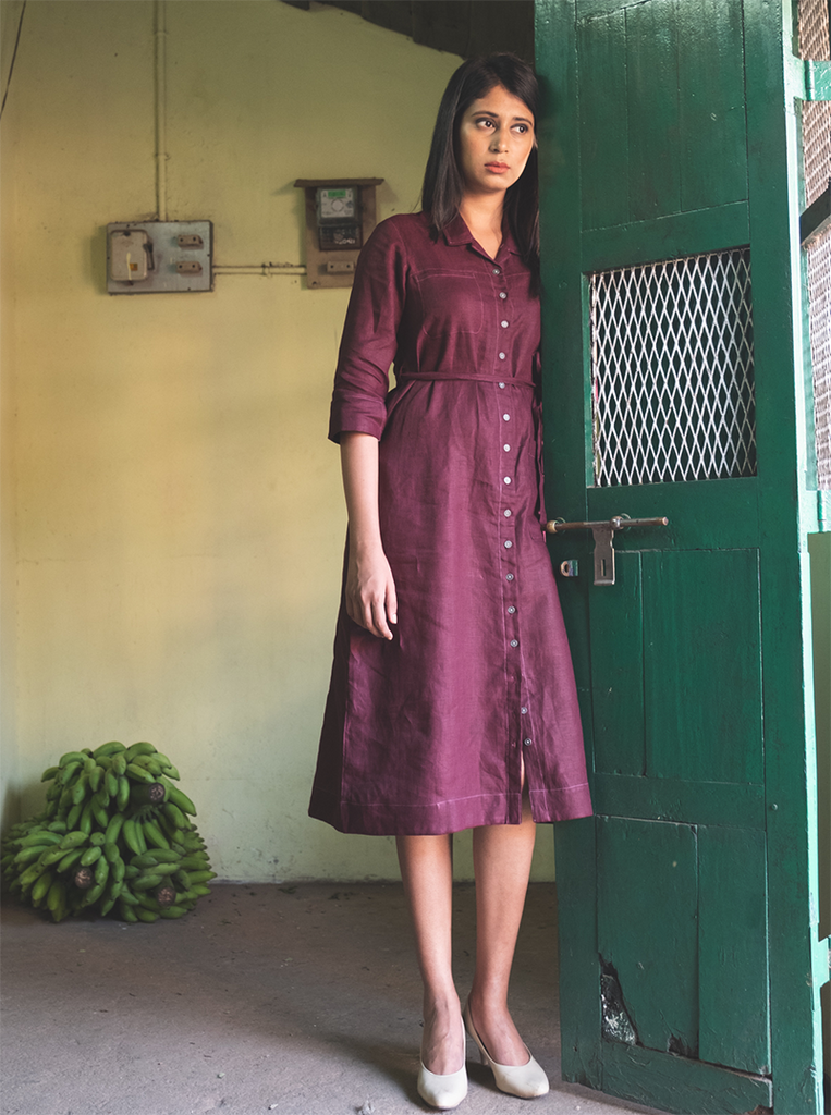 Sangria Shirt Dress