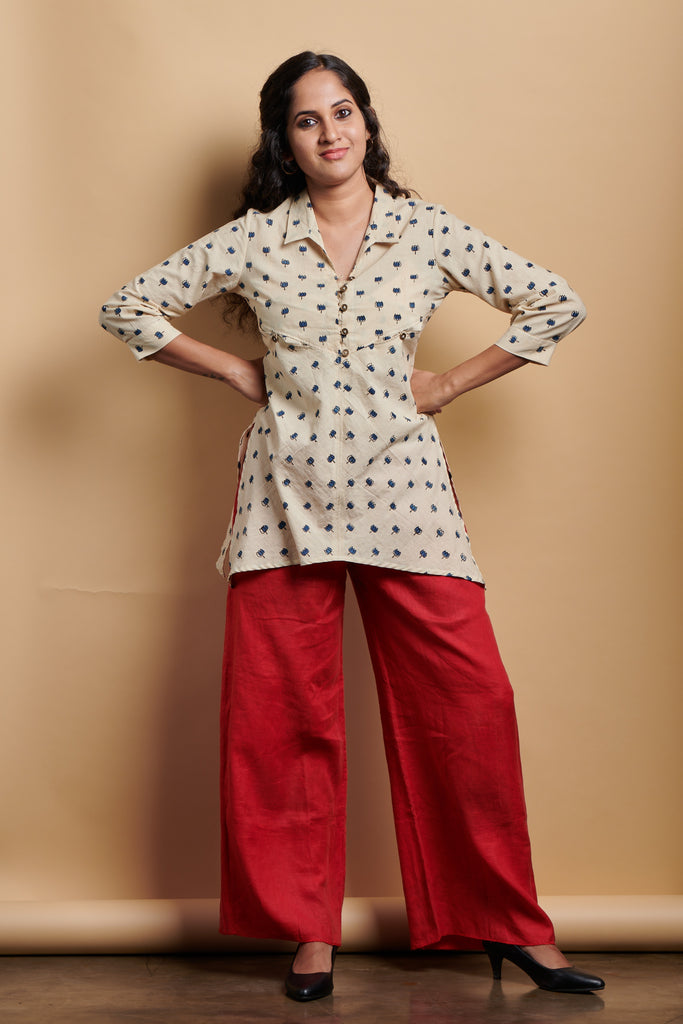 Lotus Asymmetric Kurta
