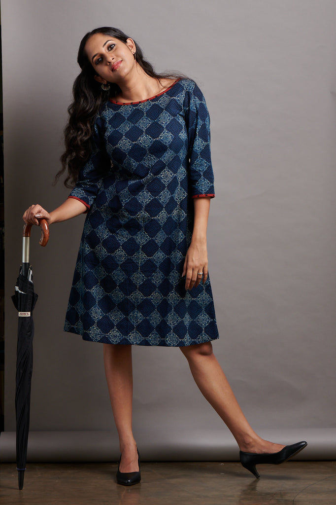 Indigo Longhi Bias Dress