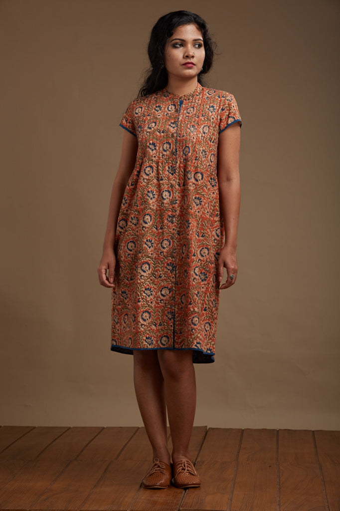 Nargis Pintucked Dress