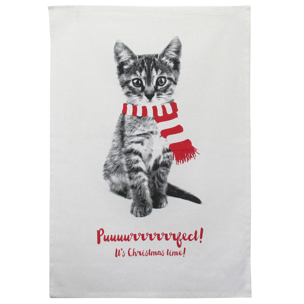 Purrrfect Kitty tea Towel