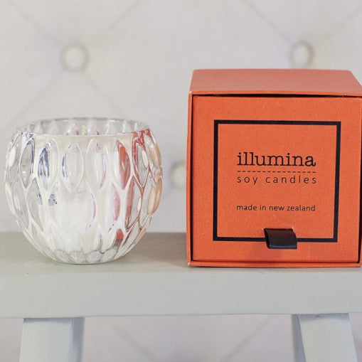 Illumina Diamond Cut Crystal Candle with Orange Box