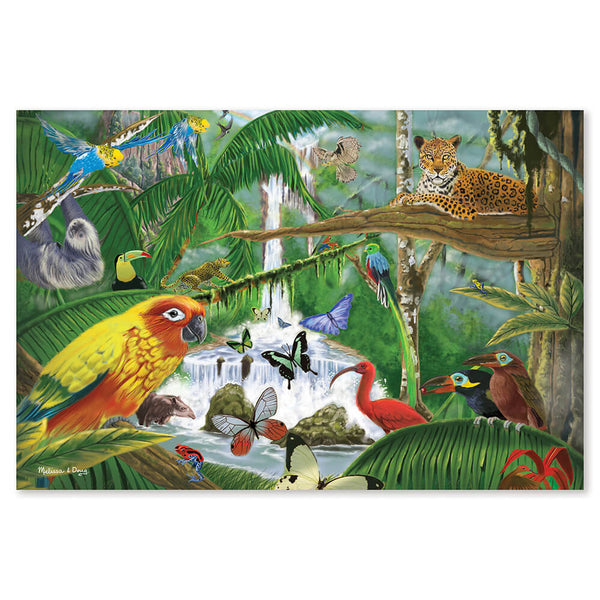 Puzzle for Kids - Melissa & Doug Rainforest Majesty Floor Puzzle - Kids Toy