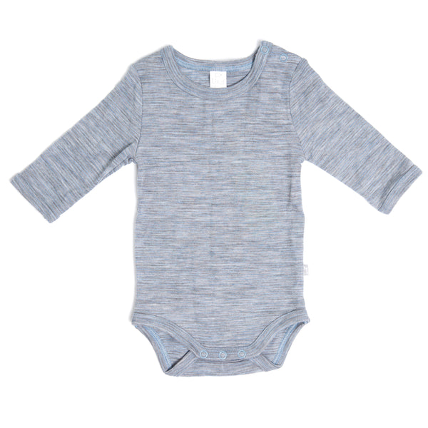 Linzi Merino Bodysuit - Blue Shadow Stripe