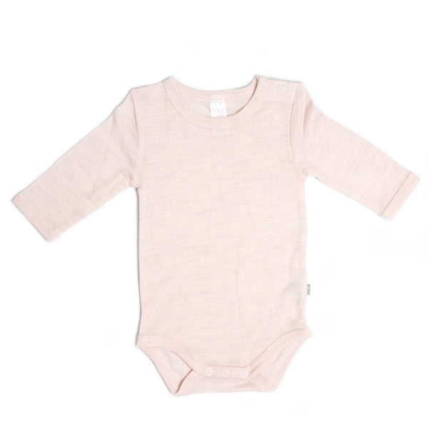 Linzi Merino Bodysuit - Heavenly Pink Stripe