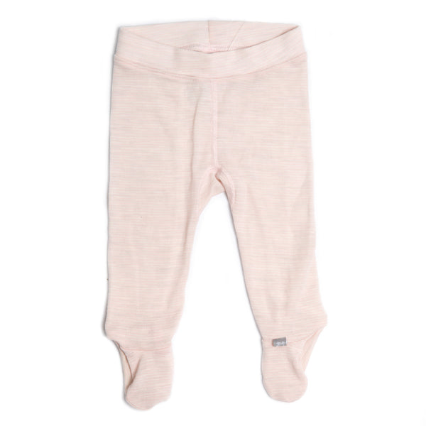 Linzi Merino Footed Pant - Heavenly Pink Stripe
