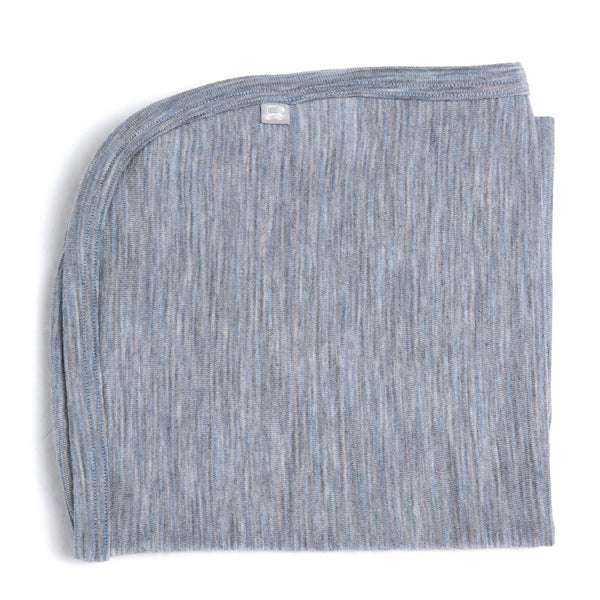 Linzi Merino Wrap - Blue Shadow Stripe