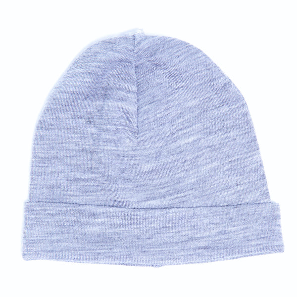 Linzi Merino Beanie - Blue Shadow Stripe