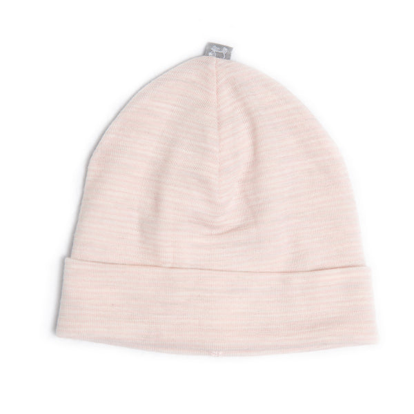 Linzi Merino Beanie - Heavenly Pink Stripe