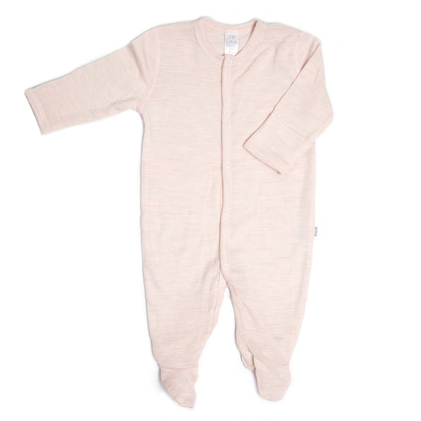 Linzi Merino Sleepsuit - Heavenly Pink Stripe