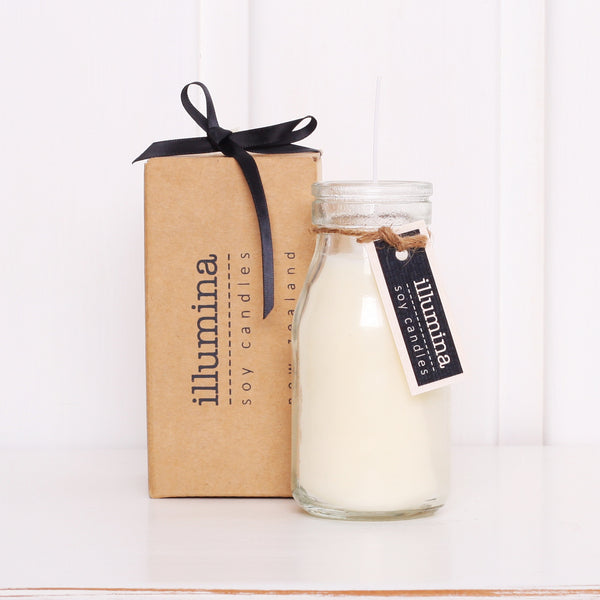 Illumina Soy Candles Clear Milk Bottle with Box