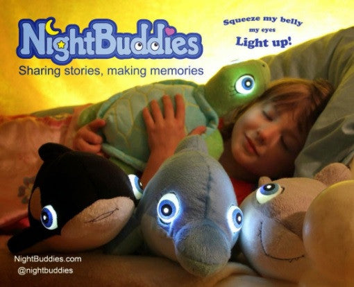 Soft Toy - Night Buddies Oliver the Orca - Glow in the Dark Toy - Black