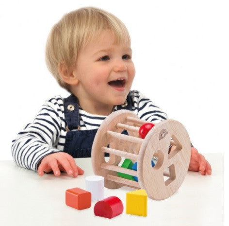 Wooden Toy - Wonderworld Rolling Sorter - Baby Toy - Wood/Multi