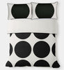 Aura Big Dots in Black Quilt Cover Single Set