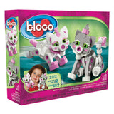 Kids Toy - Bloco Cat and Kitten - Animal Toy - Grey/Pink