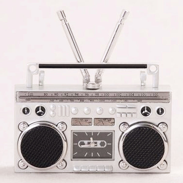 Mini Cassette Deck Desk Clock