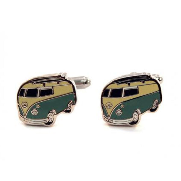 Cufflinks - Cufflink Suite Combi Cuff Links - Green/Yellow