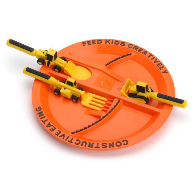 Constructive Eating 3 Piece Set + Construction plate