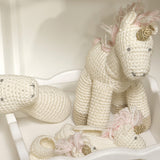 Albetta Crocheted Unicorn Toy and Unicorn Booties