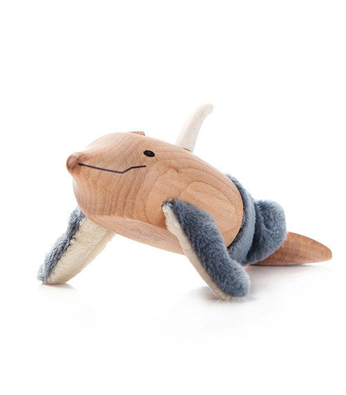 Wooden Toy - anaMalz Dolphin - Animal Baby Toy - Wood