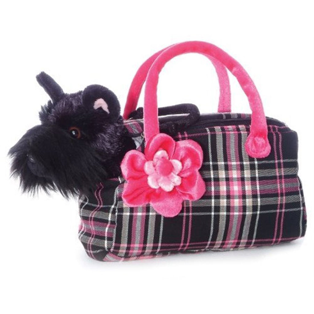 Soft Toy - Aurora Scotty Pet Carrier - Animal Baby Toy - Black