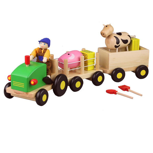 Wooden Toy - Discoveroo Farm Set - Baby Toy - Wood/Multi