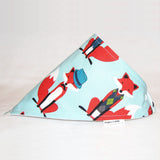 Elephant Ollie Fox and Houndstooth Bandana Bib