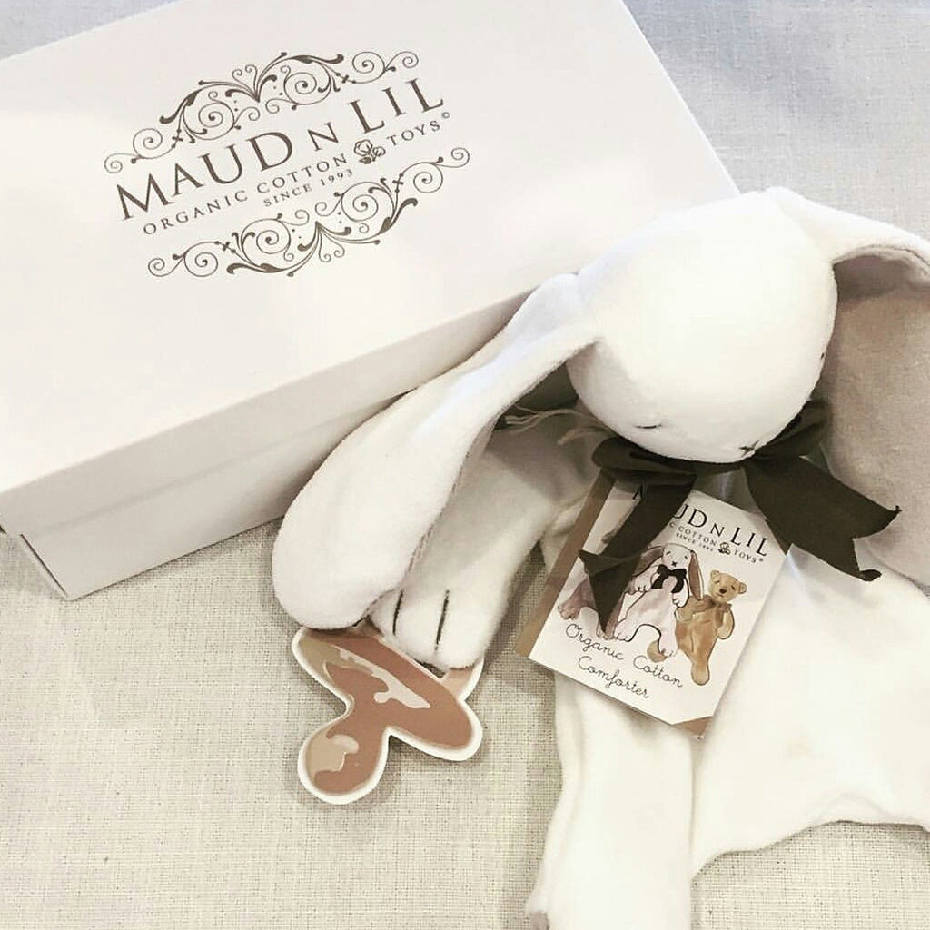 MaudnLil organic cotton ears the bunny comforter