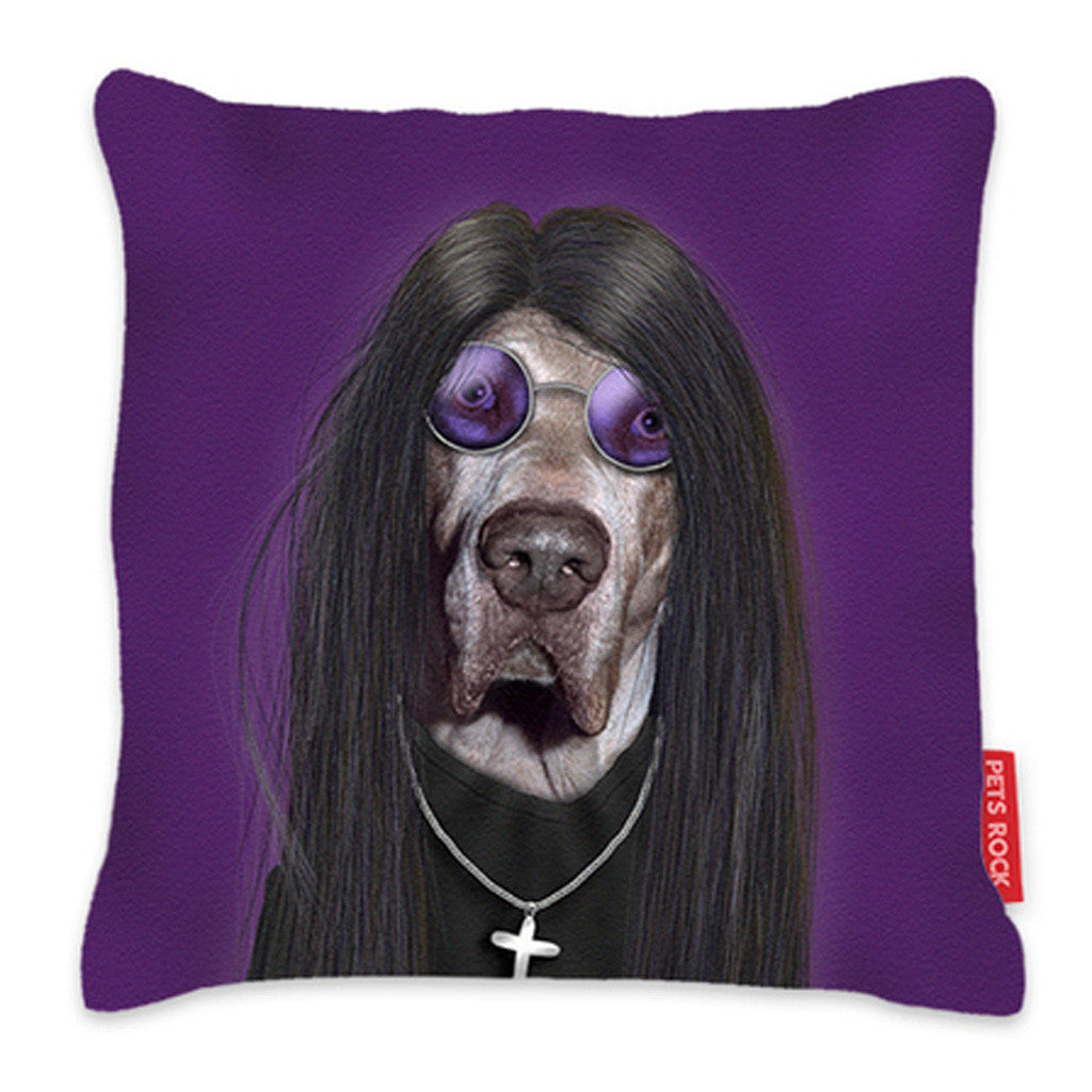 Kids Cushion - Pets Rock Metal Cushion - Purple